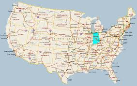 United State Of America Map by Indiana State In Us Map Millstonehills Map Of Indiana Cities