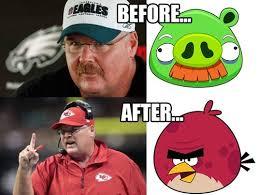 Andy Reid Meme - andy reid angry bird transformation funscrape