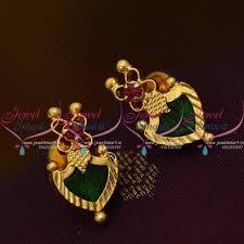 kerala earrings es9504 kerala design jewellery screwback palakka earrings buy