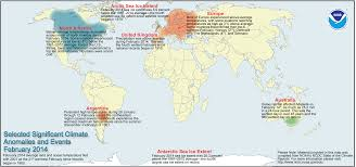 North America Climate Map by Global Climate Report February 2014 State Of The Climate