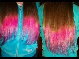 hombre style hair color for 46 year old women diy dip dye ombre hair two colors youtube