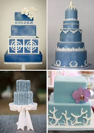 wedding inspiration blue wedding cakes