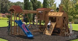 Backyard Swing Sets For Kids by Clickety Clack Station Backyard Kids Playset Play Mor Swingset