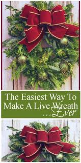 live christmas wreaths the easiest way to make a live wreath stonegable
