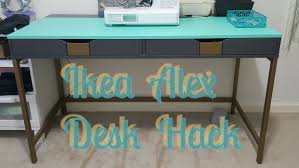 ikea office hack alex ikea desk hack 6 steps with pictures