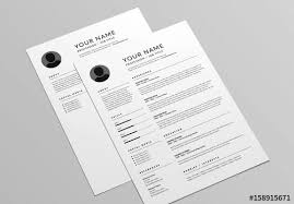 cover letter layout classic resume and cover letter layout buy this stock template and