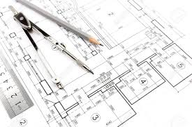 construction plans house building construction plans with pencil and drawing compass