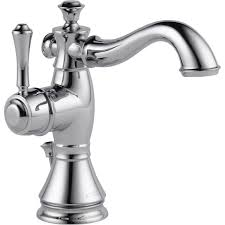 One Handle Bathroom Faucets Delta Faucet 597lf Mpu Cassidy Polished Chrome One Handle Bathroom