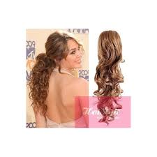 clip on ponytail clip in ponytail wrap braid hair extension 24 curly light brown