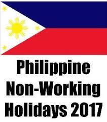 philippine non working holidays for 2017 marikenya