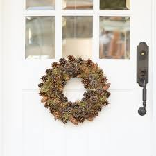 pinecone wreath front door wreath pine cone wreath live wreaths