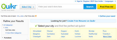 Quikr Post Resume 5 Best Online Job Sites To Get Registered For A Job In India The