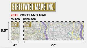 Street Map Of Boston by Streetwise Portland Map Laminated City Center Street Map Of