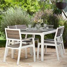 Bbq Tables Outdoor Furniture by Keter Harmony 6 Seat Dining Set Outdoor Garden Patio Furniture