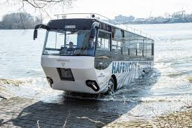 amphibious truck first amphibious bus from germany hafencity riverbus auto types