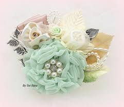 mint green corsage brooch boutonniere groom corsage button of the