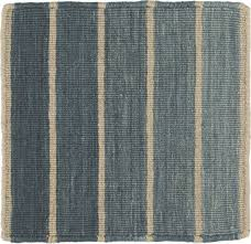 Dhurrie Runner Rugs Bold Blue Wool Blend Striped Dhurrie 12 Sq Rug Swatch In Area
