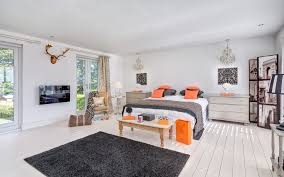 Orange And Black Rugs Black And Orange Theme Family Room Contemporary With Throw Pillows
