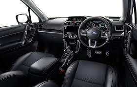 white subaru forester interior subaru forester facelift interior cockpit official indian autos blog