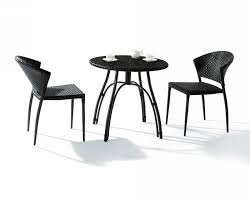 small patio table u2013 black wicker rattan table base brown ceramic