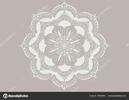 Mystic Ottoman Laser Cut Of A Flower Mandala Vintage Decorative Elements