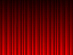 red curtains vector powerpoint backgrounds