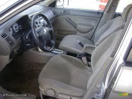 2001 honda civic ex interior beige interior 2001 honda civic ex sedan photo 43021063