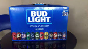 how much is a 36 pack of bud light bud light nfl 32 team pack has arrived youtube