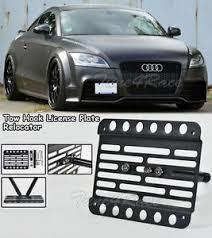audi tt 08 for 08 14 audi tt mk2 front bumper tow hook license plate bracket