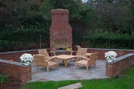 Backyard Fireplace Plans by Exterior Design Distinctive Backyard Brick Fireplaces Design With