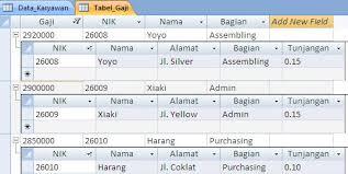 membuat query tabel contoh database sederhana pada ms access 2007 hildasilvia1892
