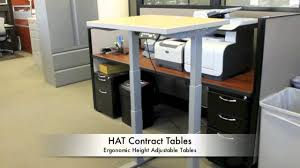 Conset Height Adjustable Desk by Hat Height Adjustable Tables Www Workplaceemporium Com Youtube