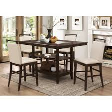 high dining room table sets counter height dining sets you ll love wayfair