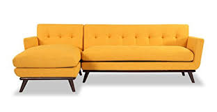 Mid Century Modern Sectional Sofa Kardiel Jackie Mid Century Modern Sectional Sofa Left Citrus Pop