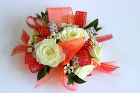 Red Prom Corsage Celebration Flair Prom Corsages