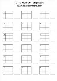multiplication grid method worksheets u0026 year 3 differentiated the