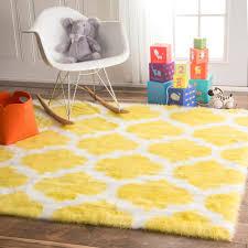 White Soft Rug Nuloom Cozy Soft And Plush Faux Sheepskin Tellis Shag Kids Nursery