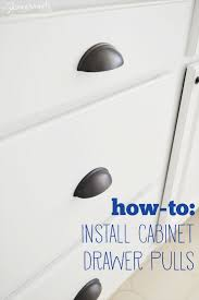 How To Mount Cabinets How To Install Cabinet Drawer Pulls Love Pomegranate House