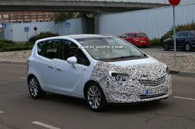 vauxhall meriva 2004 spied opel placing the final touches on facelifted meriva