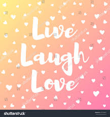 live laugh love lettering colorful card stock vector 437738623