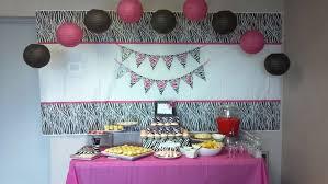 zebra print baby shower home design ideas