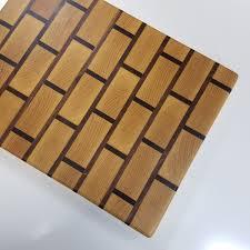 walnut u0026 maple brick pattern end grain butcher block mwawoodworks