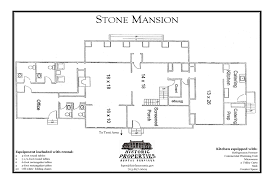 Floor Plan Of A Mansion by Historic Properties Rental Services Stone Mansion Fairfax