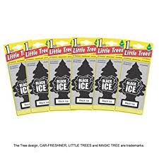 trees air fresheners black 6 pieces co uk