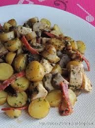 cuisiner les pruneaux poelee de pommes de terre ratte poulet chorizo pruneaux les