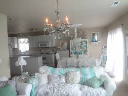 Shabby Chic White Chandelier Not So Shabby Shabby Chic My New Blue Green Crystal Chandelier