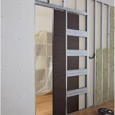 comment poser une porte de chambre comment poser une porte coulissante galandage leroy merlin avec