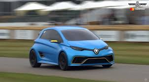 renault zoe renault zoe e sport concept makes rare goodwood appearance is not