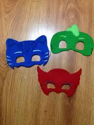 3 pj mask masks blue cat boy green gecko red owl