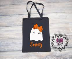 personalized trick or treat bags personalized trick or treat bag monogram candy ghost